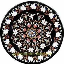 Round Inlay Marble Table Top