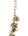 Dark Luster Glass Beads With Golden Antique Chain & Copper Ball Necklace