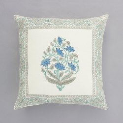 Floral Hand Block 16 x 16 Cushion Cover