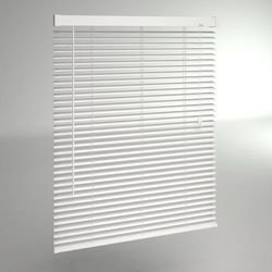Aluminium White Plain Vanishing Blinds
