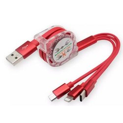 Retractable Charging Data Cable, Packaging Type: Box