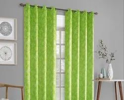52 x 60 inch Floral Green Printed Blackout Curtains