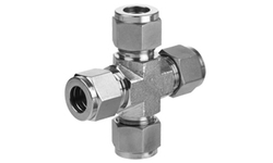 Compression Cross,Brass,SS,CS, Connection Type: OD