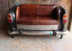 Mild Steel Antique Auto Mobile Ambassador Car Sofa Cushion, Size: W63xd35xh32 Inch