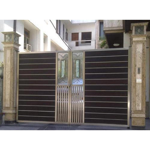 304 Grade Stainless Steel Main Gate At Rs 1050 Square Feet Ss