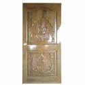 Wood Glossy And Semi Glossy Decorative Teak Wooden Door