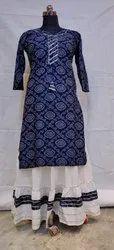 Rayon Kurti Skirt