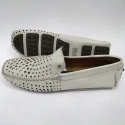 White Designer Leather Loafers