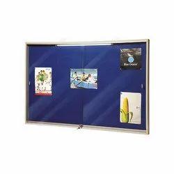 Modular Slider Glass Door Notice Board