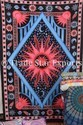 Sun Moon Print Indian Celestial Wall Tapestry Bohemian Decorative Twin Cotton Wall Hanging