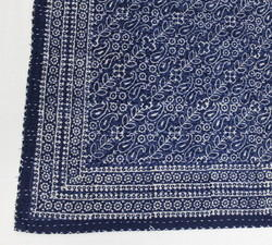 Blue Cotton Kantha Bed Cover