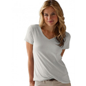Medium White Ladies Plain Tees Shirt