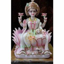 White Lakshmi Marble Moorti