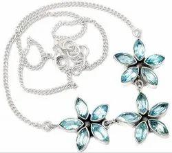 Blue Topaz High Furnished Necklaces