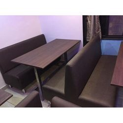 Brown Wooden Hotel Table