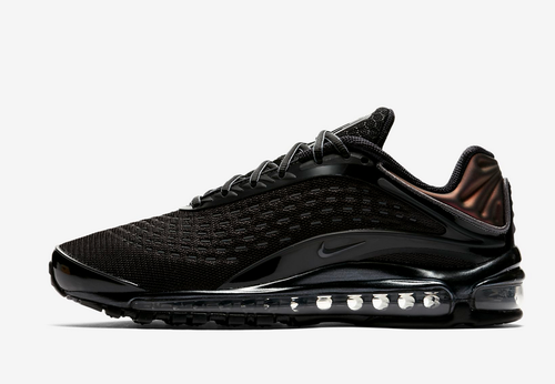 bf4094ef30 Black/Dark Grey Synthetic And Synthetic-leather And Textile Construction Nike  Air Max Deluxe