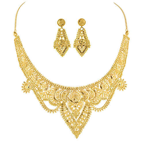 Designer Gold Necklace Set Gold Gold Jewellery Harilal