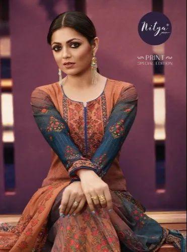 fead70baa2 LT Fabrics Georgette Designer Digital Printed Salwar Suits, Rs 1625 ...