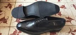 Wing Tip Brogue Punch Black Mens Leather Formal Shoes, Size: 5 To 11