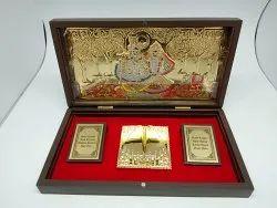 Divinity Radha Krishna Gold Plated Photo Frame Box