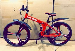 Red Limited Edition Land Rover Cycle, Size: 26