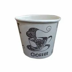 White 75 ML Printed Coffee Paper cup, For Parties, Features: Eco Freindly