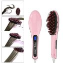 Professional Ceramic Fast Hair Straightener Brush With Temperature Control