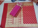 Banarasi Wedding Semi Katan Silk Saree