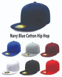Navy Blue Cotton Hip Hop Caps