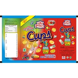 Princy Crunchy Cups Snacks, Packaging Type: Pouch