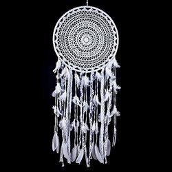 White Boho Dream Catcher