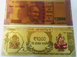 Gold Foil Laxmi Ganesh Notes