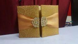 Fabric New Nachi Wedding Invitation Card