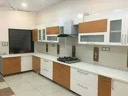 L Shape Wooden Modular Kitchen, Model Number/Name: 003, Warranty: 10-15 Years