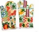 Cotton Kitchen Linen - Oven Gloves