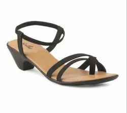 Paragon Womens Black Solea Plus Sandals