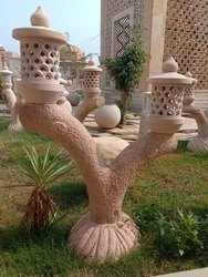 Red Sandstone Lamp Posts