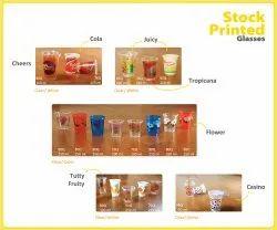 Transparent Printed Plastic Juice Glass, For Hotel, Capacity: 200-350ml