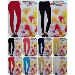 Straight Fit Plain Ladies Cool Color Cotton Legging