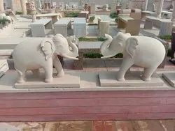 Sandstone Elephant Animal Statue