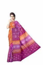 Kala Sanskruti Party wear Pink And Peach Color Banarasi Georgette Saree, 5.5 m (separate blouse piece), With blouse piece