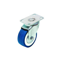 Blue Rubber Wheel Caster
