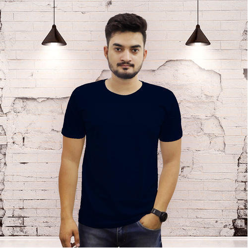 39b11d77 The Chambal Mens Cotton Half Sleeve Black Casual T-Shirt, Rs 349 ...