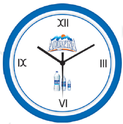 Promotional Round Blue Wall Clock