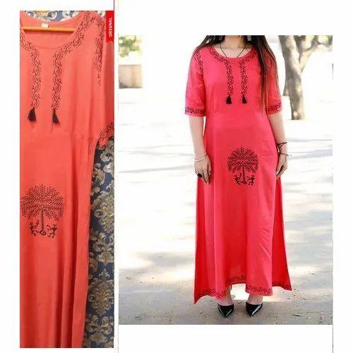 Cotton Casual Wear Ladies Full Length Suit