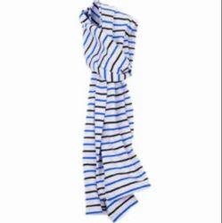 棉印花条设计围巾