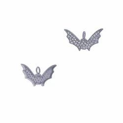 Pave Diamond Bat Charm Pendant