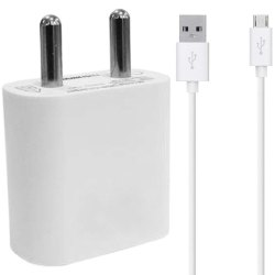 White 1 Meter Mobile USB Charger