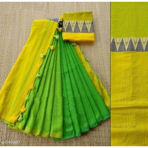 Party Wear Optional Fancy Bordered Moddhomoni Saree, 6.3 m (with blouse piece)