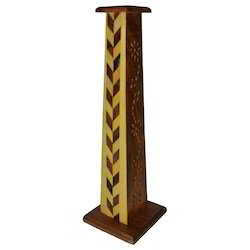 Wooden Tower Incense Stick Holder